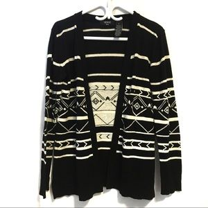 Verve Ami Black and White Patterned Cardigan